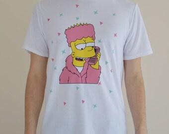 The Simpsons White Unisex Tees