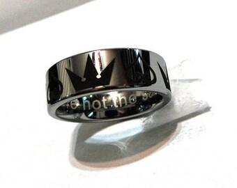 Kingdom Hearts Tungsten Ring (Silver)