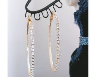 sparkly hoop earrings gold and sliver two sizes