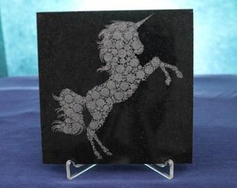 """6""""x6"""" Custom Laser Engraved Granite Tile"""