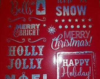 33 pc Holly Jolly Christmas Magnets, Fridge Magnets, Christmas Magnets