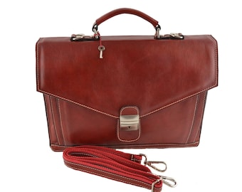 Leather Briefcase 2 Compartments