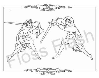 Sacred Combat Embroidery Pattern