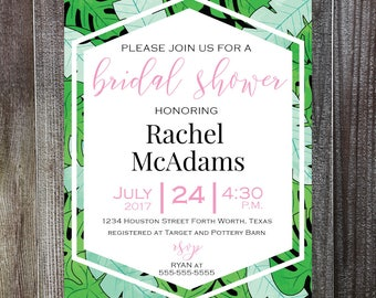 Palm Tree Bridal Shower Invitation