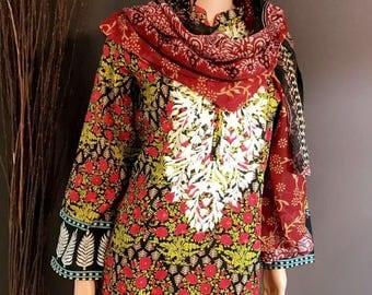 Pakistani lawn dress 3 piece