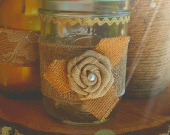 Rustic Candle Holder/ Vase