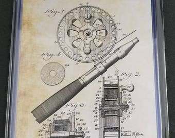 Fishing Patent Art Prints Set