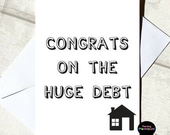 Funny New House Card | New Home Card, Mortgage Card, Congratulations Card, Moving Card, First Home Card, Housewarming Card, Banter Card