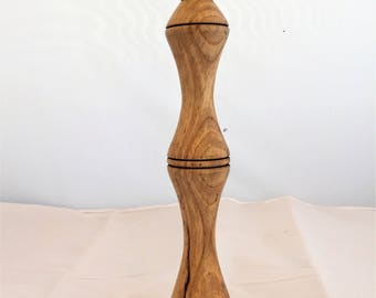 candlestick, wood single elegant made from spalted Sycamore