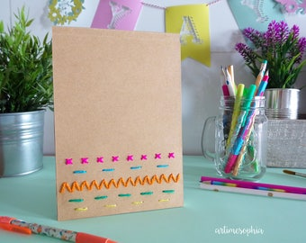 Hand Embroidered Notebook A5 Multi Colors Patterns