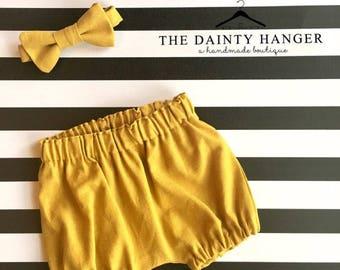 Newborn Shorts and Bow Tie Set
