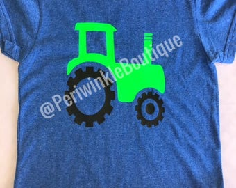 CLEARANCE, Tractor Shirt, Ready to Ship, Boys Clothing, Birthday Gift, Personalized Shirt