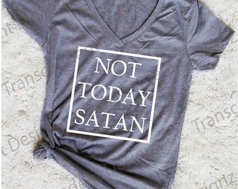 Not Today Satan Women's Graphic Tee, Funny Women's Graphic Tee, Funny Women's Tee, Graphic Women's Tee, Women's Tee