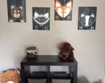 Woodland Creature Nursery Decor or Kids Room Decor
