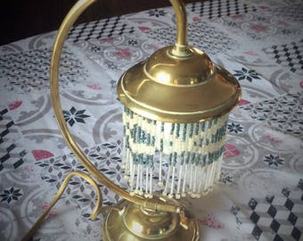 Nice little bedside french vintage brass lamp circa 1900