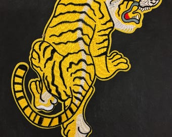 Embroidered Tiger Head Animal Patch Applique - Tiger Style Patch Applique for Sewing And Iron On