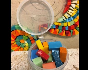 Smalti mosaic tiles