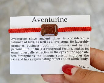 Aventurine Bracelet Birthstone bracelet Zodiac bracelet Friendship bracelet Business talisman Bohemian bracelet Astrology bracelet