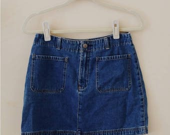 90s Gap Denim Mini Skirt