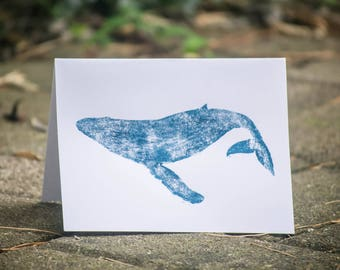 Whale Hello There Hand-printed Stationery