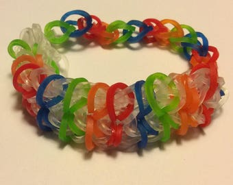 Rainbow Loom Zippy Chain Bracelet: Assorted Colors