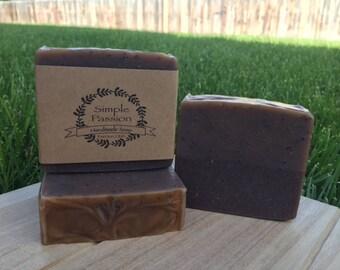 Chocolate Vanilla Triple Butter Soap/Cold Process Soap/Handmade Soap/Handcrafted Soap/Triple Butter/Milk Soap