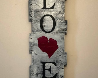 Love Michigan Wood Sign | FREE SHIPPING | Michigan Wood Sign | State wood sign