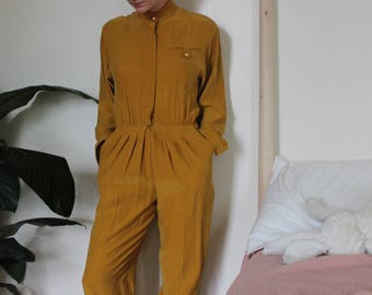 Vintage Mustard Yellow Jumpsuit- Size MEDIUM