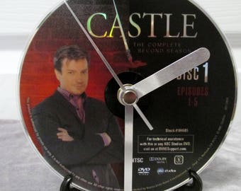 Castle DVD Clock Upcycled TV Show #3