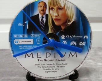 Medium DVD Clock Upcycled TV Show #2