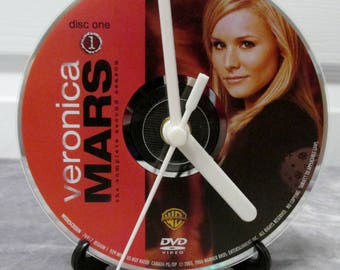Veronica Mars DVD Clock Upcycled TV Show