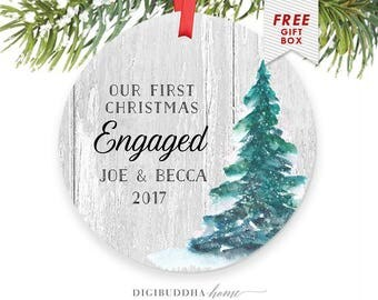 Christmas Ornaments Engaged Ornament, Engagement Gifts for Couple, Christmas Ornament Engagement Gifts for Engagement Gift for Bride Present