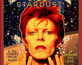David Bowie concert poster