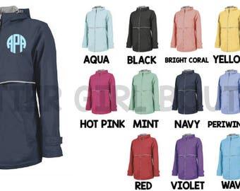 Charles River Rain Jacket   Full Zip Charles River Rain Jacket   Personalized Rain Jacket   Monogram Rain Jacket