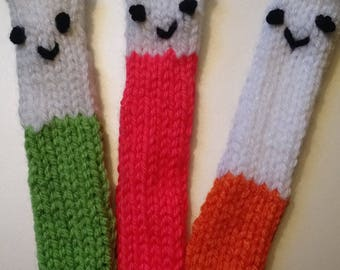 Knitted Test Tube Buddies
