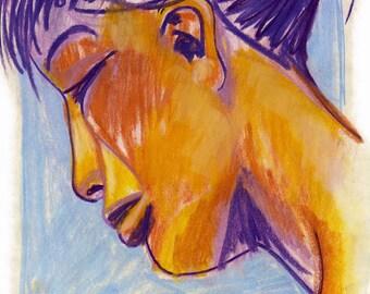 LILY portrait feminine pastel.