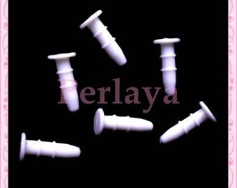 Set of 20 white dust plugs REF1857