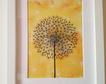 Seed Head - Ink and Watercolour Original Artwork