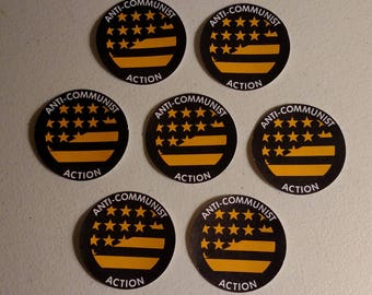 Anti-Communist Action Stars And Stripes Sticker Pack, 20 Stickers Each