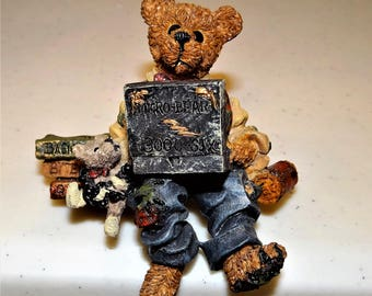 Boyds Bears & Friends, Bearstone Collection, Neville...Compubear   Shelf Sitter