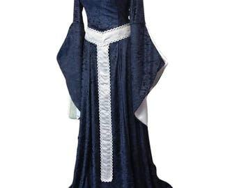 medieval dress, renaissance dress with girdle belt, Gothic dress, handfasting
