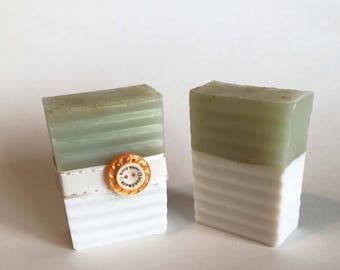 Aloe Vera Soap, Kaolin Clay Soap, Organic Soap, Vegan Soap, Glycerine soap, Gift for her, Homemade Gift, Soaps for her, natural soap