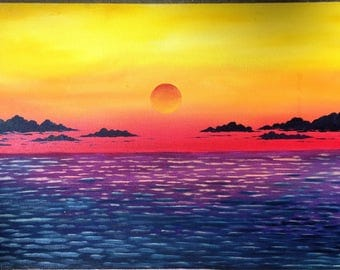 Sunset Deco, oil painting