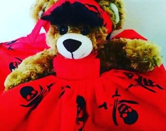Decorative Rockabilly dressed teddy bear