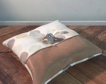 Modern Wedding Ring Pillow, Ring Bearer Pillow