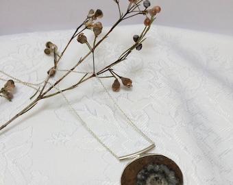 Ammonite Drop Necklace
