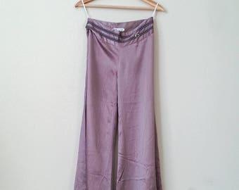 Vintage Purple Silk 70's Pants, Stylish Bohemian Pants, Loose Pants, Purple, Boho Style, Festival Pants, Silk Pants, Unique Vintage Pants