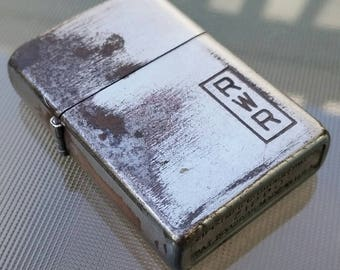 Vintage steel-cased 1953 brushed chrome Zippo. Serviced and detailed. 2032695.