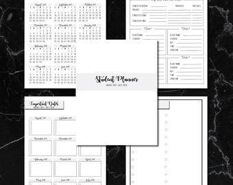 20+ Page Printable Student Planner - 2017-2018 School Year (Letter Size)