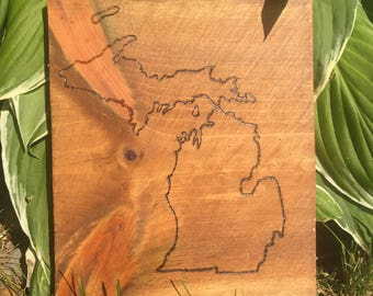 Wood Burned State of Your Choice
